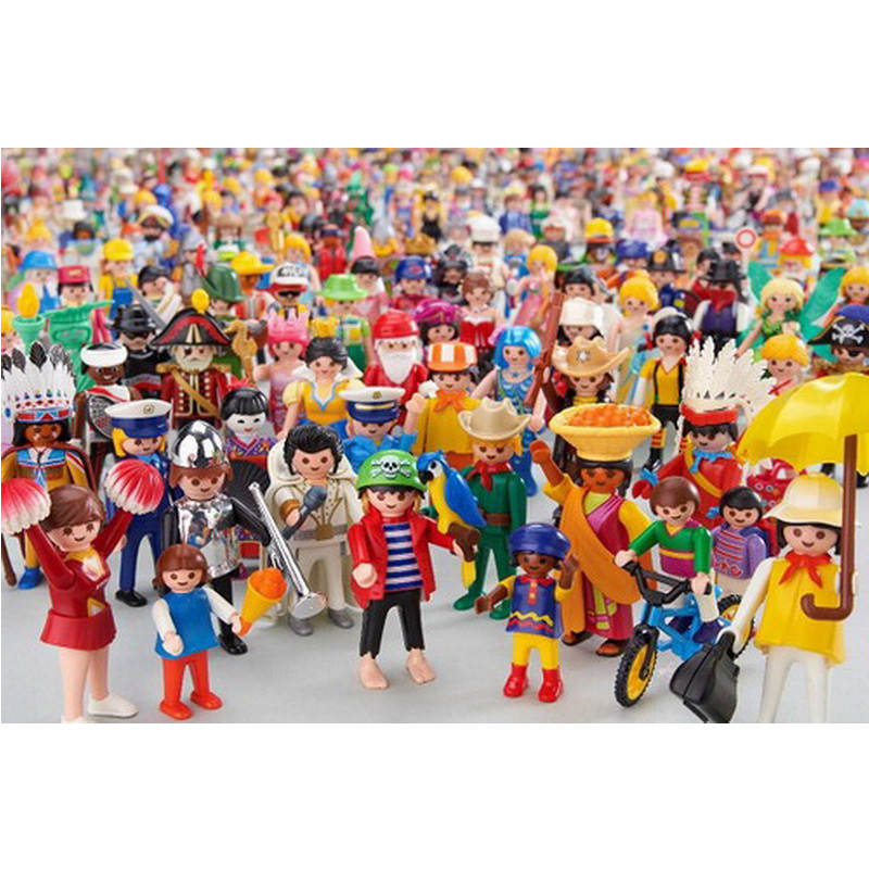 10 Style 7.5cm Playmobil Childrens Pony Farm and Horse-drawn Carriage Take Along Modern Doll House Action Figure Kids Gift Toys