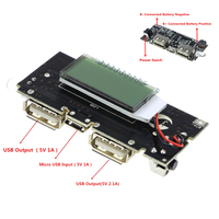 Dual USB 18650 Battery Charger PCB Power Module 5V 1A 2 1A Mobile Power Bank Accessories