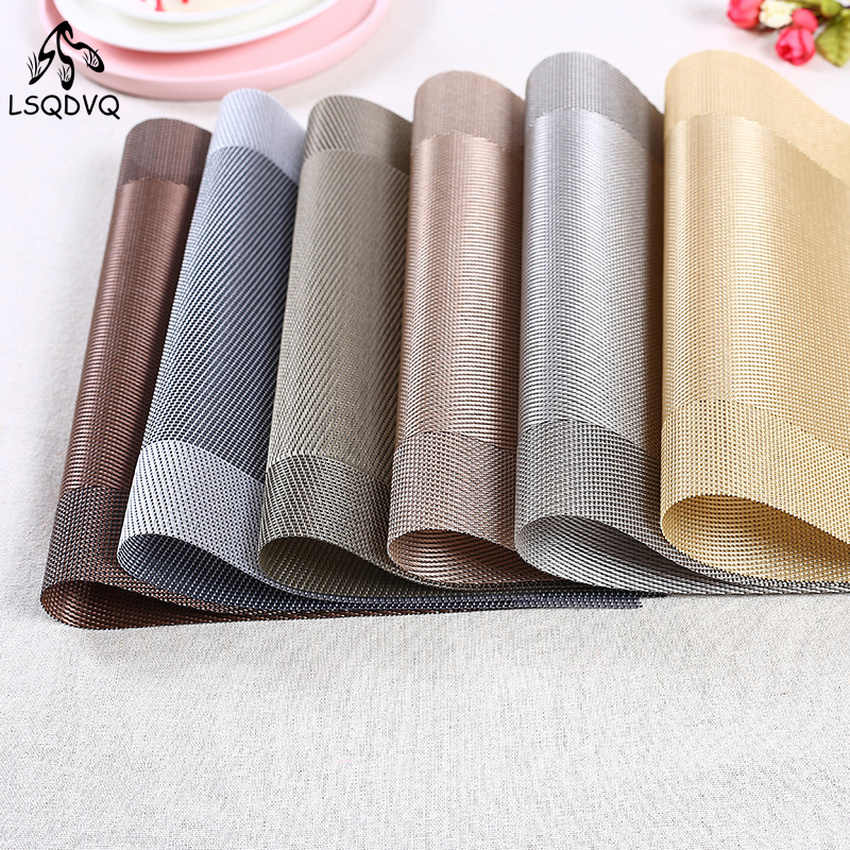 Simple PVC Placemats Manteles Individuales Table Pad Mats for Dining Table Drink Coasters Washable Place Mats