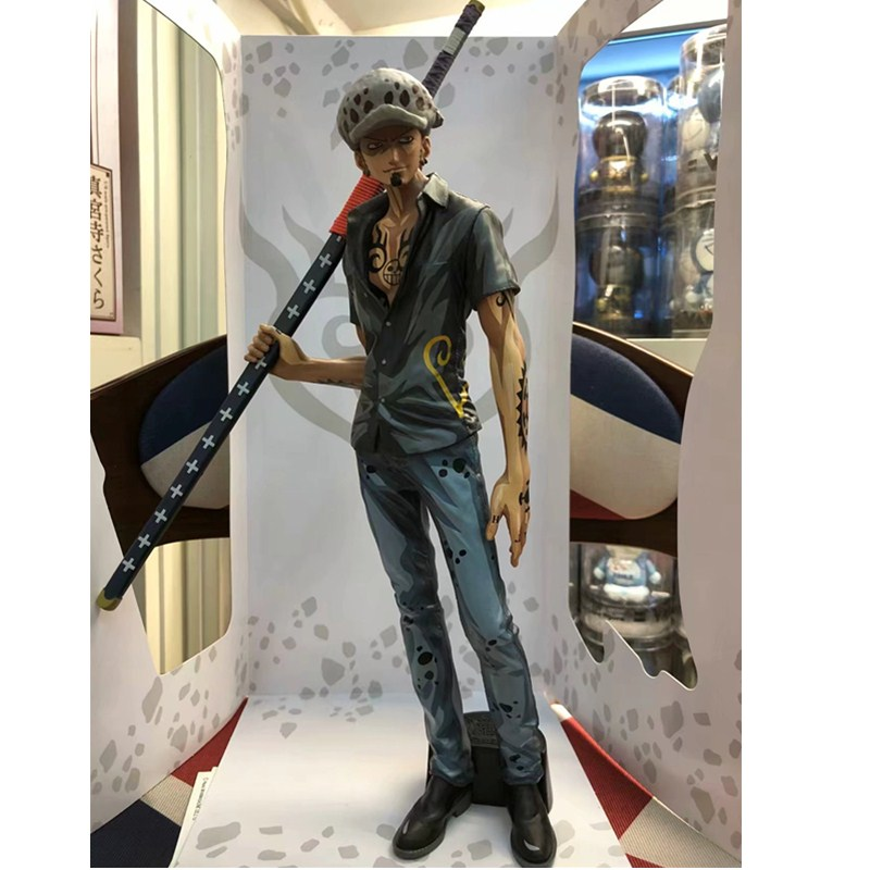30cm Japan Anime One Piece Trafalgar Law Comic Color Version Eiichiro Oda PVC Model Decoration Action Figure Kids Doll L1214 free shipping cool 9 one piece anime p o p shichibukai the surgeon of death trafalgar law after 2 years pvc action figure model