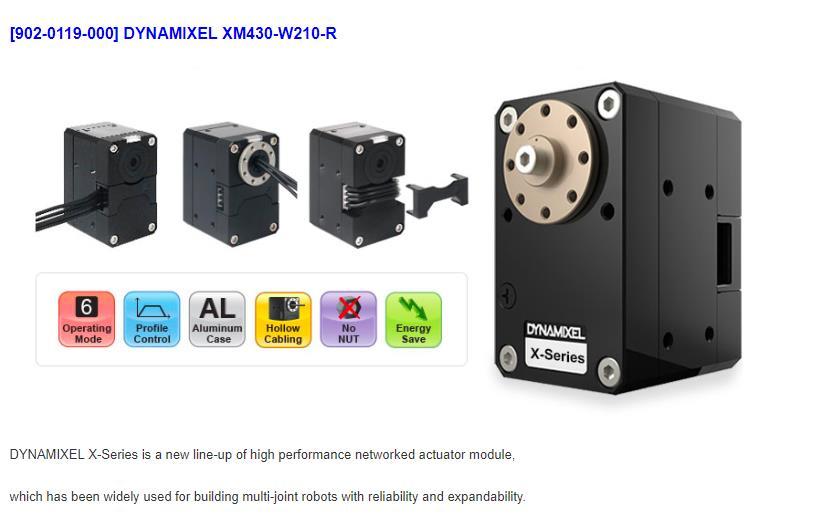 DYNAMIXEL XM430-W210-R Coréia ROBOTIS Dynamixel X série Atuador braço mecânico leme