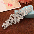 bridal Sparkling crystal rhinestone flowers and leaves wedding accessories Bride Hair Jewelry Headpieces Princess Hair BandRE365