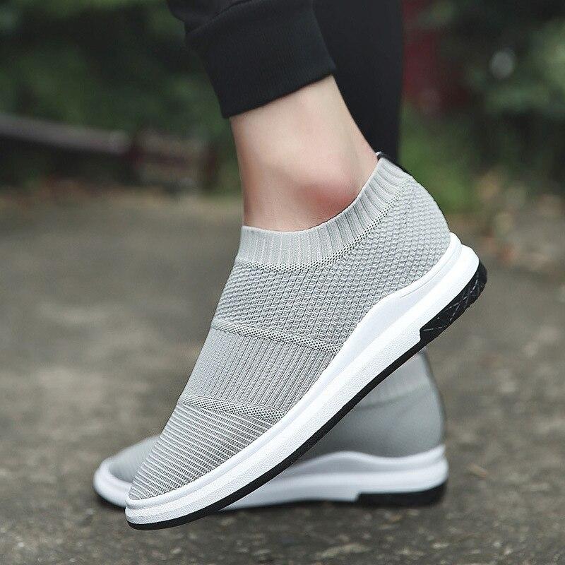 Brand Summer Men Socks Sneakers Beathable Mesh Male Casual Shoes Slip on Sock Shoes Loafers Boys Super Light Sock Trainers slip-on shoe
