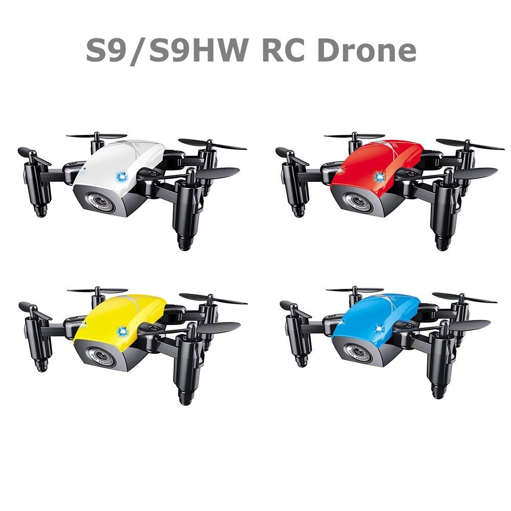 S9HW Mini Drone With Camera S9 No Camera RC Quadcopter Foldable Drones Altitude Hold RC Quadcopter WiFi FPV Pocket Dron VS CX10W Квадрокоптер