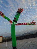 1PC Inflatable Wave One leg Multicolor Arms air dancer sky dancer 6m Advertising Inflatables