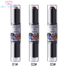 1PCS Sexy Double-end Makeup Natural Shimmer Cream Face Nose Party Foundation Concealer Highlight Contour Pen Stick Hot Sale все цены