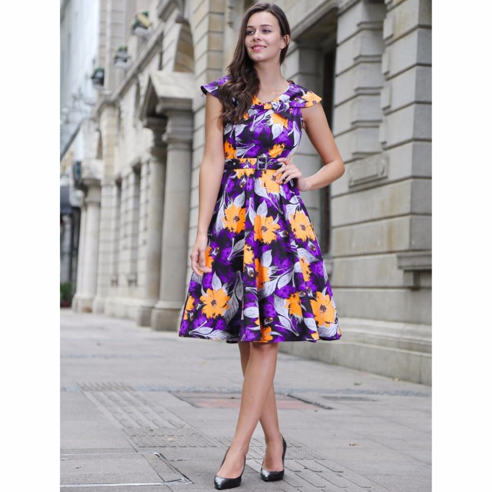 moda vintage dress nuevo estilo rockabilly s s floral impreso puff mangas con