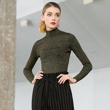 High elastic knit turtleneck slim pullovers sweater 2018 new long sleeve women autumn