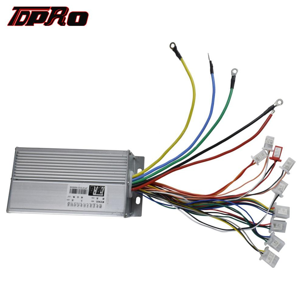 TDPRO 48V 1800W 32A Electric Brushless Motor Speed Controller DC Motor Control Box New For Scooter ATV Go Kart Quad Bicycle Bike