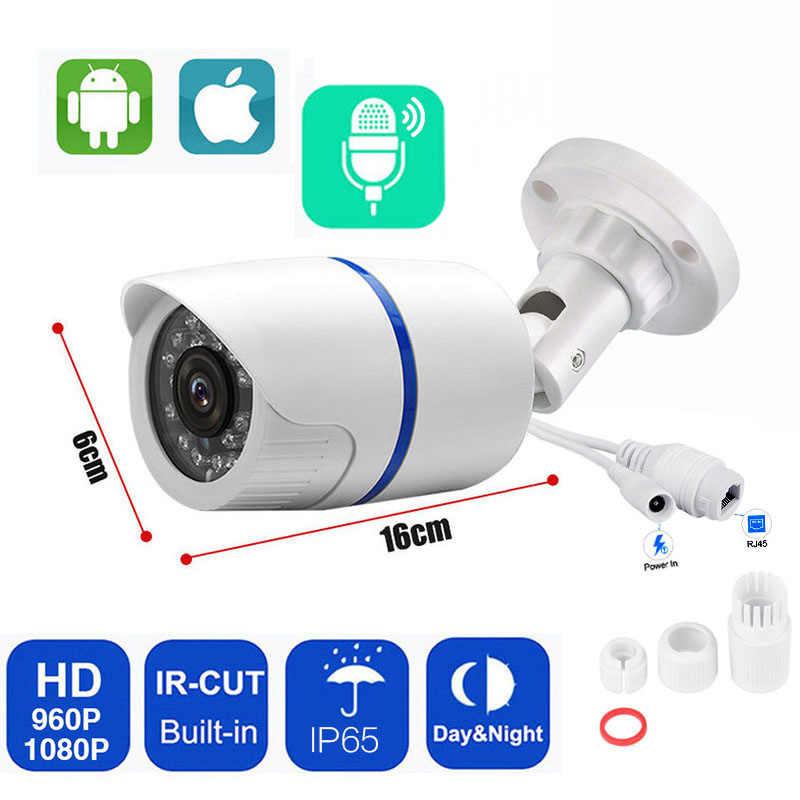 1080P IP מצלמה חיצוני אבטחת מצלמת בית CCTV ONVIF H.265 אודיו מעקב POE מצלמות עמיד למים ראיית לילה Xmeye