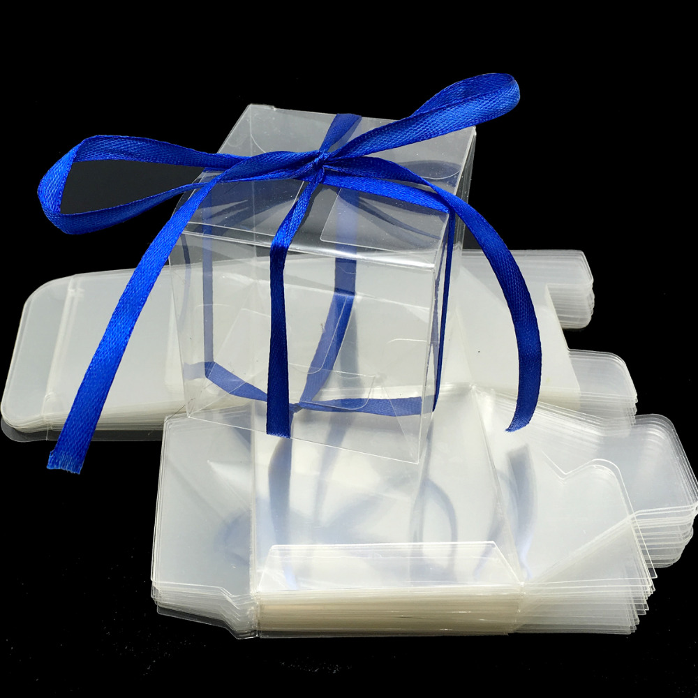 100 Pcs 6x6x6cm Transparent Square Gift Boxes Wedding Favor Party ...