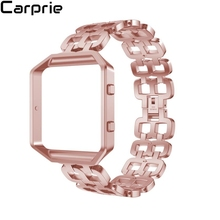Finest rate 5 colors brand-new Luxury Stainless Steel Bracelet Smart Watch Band Strap + Case Cover For Fitbit Blaze drop shipping 2may8