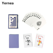 Yernea Hot New 1 Sets/Lot 2 Color For Red And Blue Baccarat Texas Hold'em PVC Poker Game Waterproof Plastic Playing Poker Cards недорого