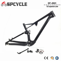 Spcycle T1000 Carbon Full Suspension Frame 29er Carbon MTB Frame Mountain Bike Carbon Frames BSA Thru Axle Rear Shock 165*38mm