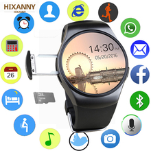 цены New KW18 Bluetooth smart watch full screen Support SIM TF Card Smartwatch Phone Heart Rate for apple gear s2 huawei xiaomi