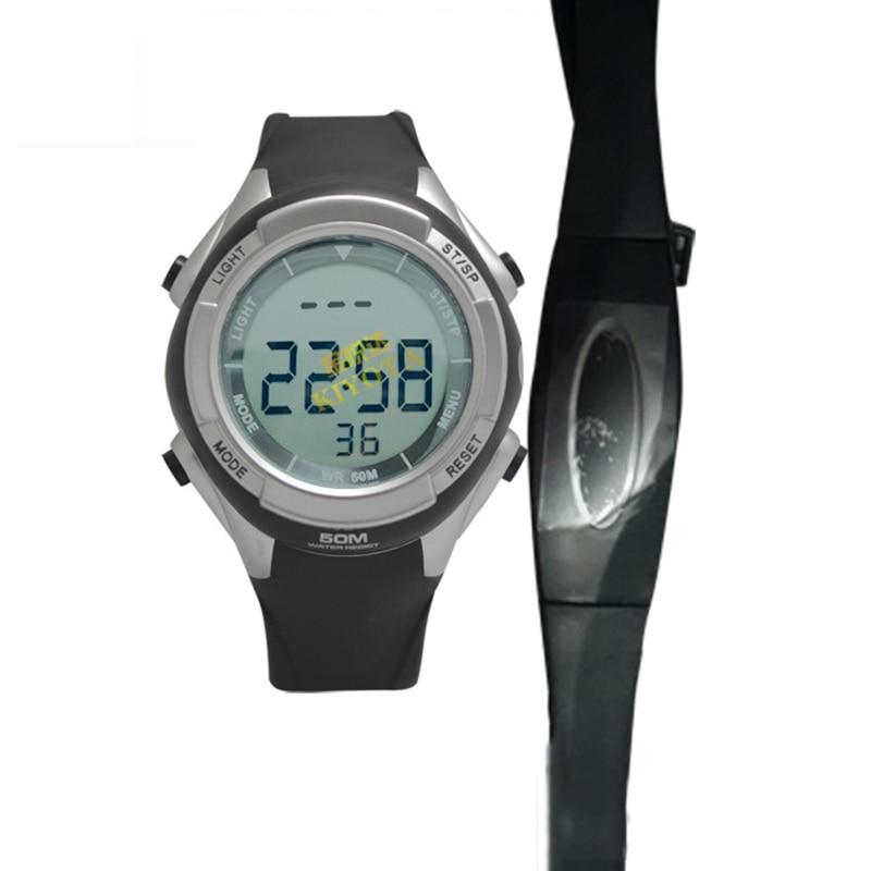 US $21.55 51% OFF|Wasserdicht Pulse drahtlose Polar Pulsmesser Uhr Digital Cardio Sensor Fitness Sport Laufschuhe HRM Brustgurt Pulsometer in