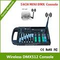 DHL Бесплатная Доставка 54CH DMX контроллер с беспроводной dmx передатчик с 9 В батареи или 12 В DC. 9 программ. 16 групп ID