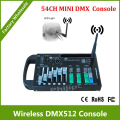 DHL Free Shipping 54CH DMX controller with wireless dmx transmitter with 9V battery powered or 12V DC. 9 programs. 16 groups ID