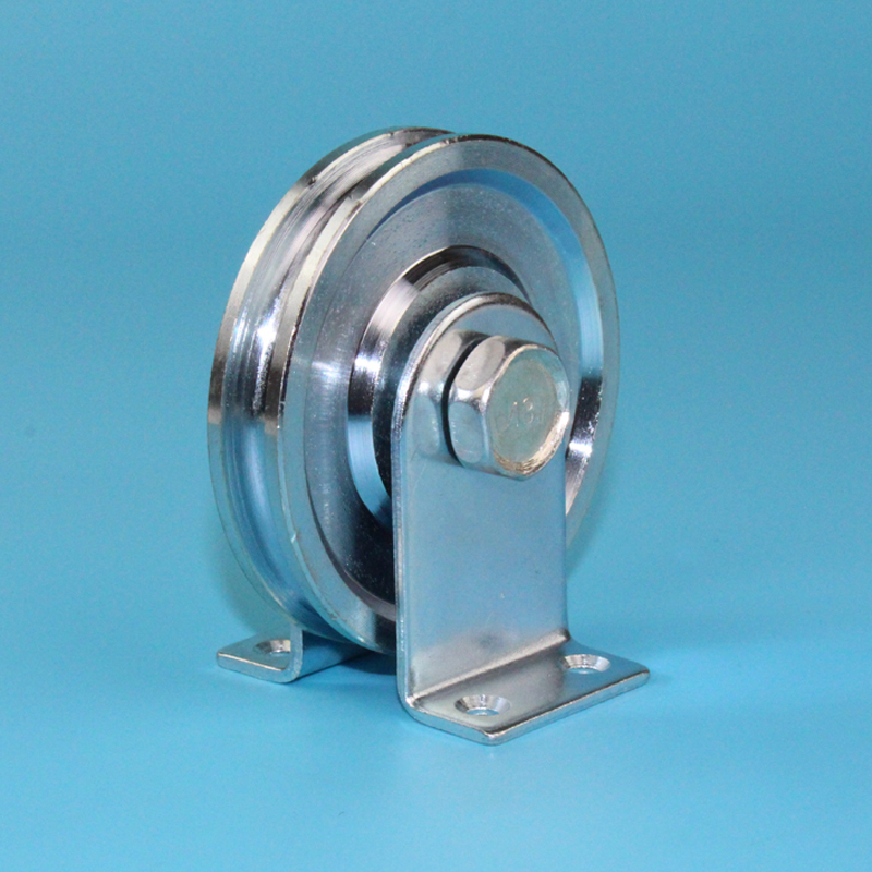 Sliding Steel Rope Rollers/pulleys/wheels With 6001RS Bearing Deep U-groove,diameter 73mm,thickness 13.5mm With Support 1pcs/lot
