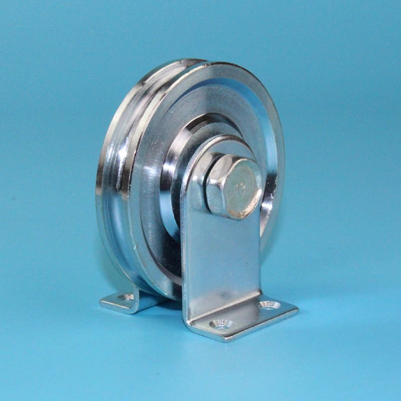 Скользящие стальные ролики/шкивы/колеса с подшипником 6001RS, глубокий U-образный паз, диаметр 73 мм, толщина 13,5 мм с опорой 1 шт./лот