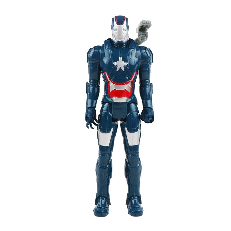 30 см Marvel Мстители игрушки танос Халк Бастер человек паук Железный человек Капитан Америка Тор Росомаха Черная пантера фигурка куклы - Цвет: war machine no box