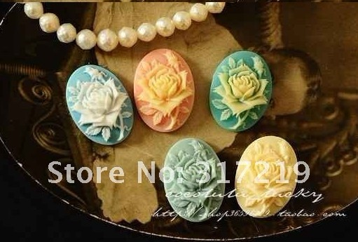 ~1825mm Resin Flower Mix Colors Resin Pendantsresin Cameo Vintage PendantsDIY Resin Beads Jewelry