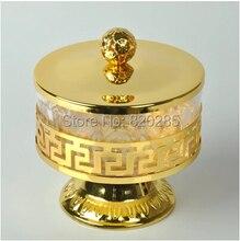 Freies verschiffen einzigartigen Europäischen stil gold finish metall & acryl salz/zucker/tee/kaffee gläser, Hohe qualität geschirr, geschirr