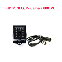 "HD MINI CCTV Camera 800TVL 1/3""SONY IR CCD 10 light infrared LED night vision Mini CCTV Security Video Camera free shippig"