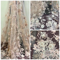 African Lace Fabric With 3d Flower For Wedding Dress French Design Latest 3d Lace Fabric 2017 High Quality 3d Fabric Flower