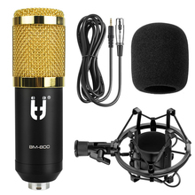 Ituf BM 800 Professional Condenser Microphone High Quality 3.5mm Wired + Metal Shock Sound Recording microphone for computer