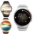 Роскошные Интеллектуальные KW18 Smartwatch СИМ TF MTK2502 Heart Rate Monitor Сенсорный Экран Bluetooth Наручные Часы для Android IOS Wirstband