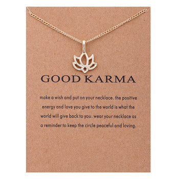 Women's Good Karma Lotus Necklace Jewelry Necklaces Women Jewelry Metal Color: HAVE CARD