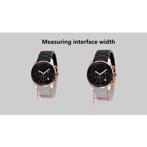 Image 5 - Peiyi aço inoxidável e pulseira de silicone 20mm 23mm implantação ouro rosa fivela para ar5920 5905 5919 5890 5906 corrente relógio
