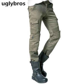 uglybros MOTORPOOL UBS06 jeans men's motorcycle Army green