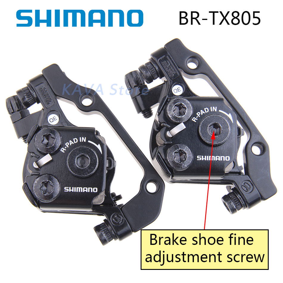 Shimano Tourney BR-TX805 Disc Brake Caliper with Resin Pads Front or Rear