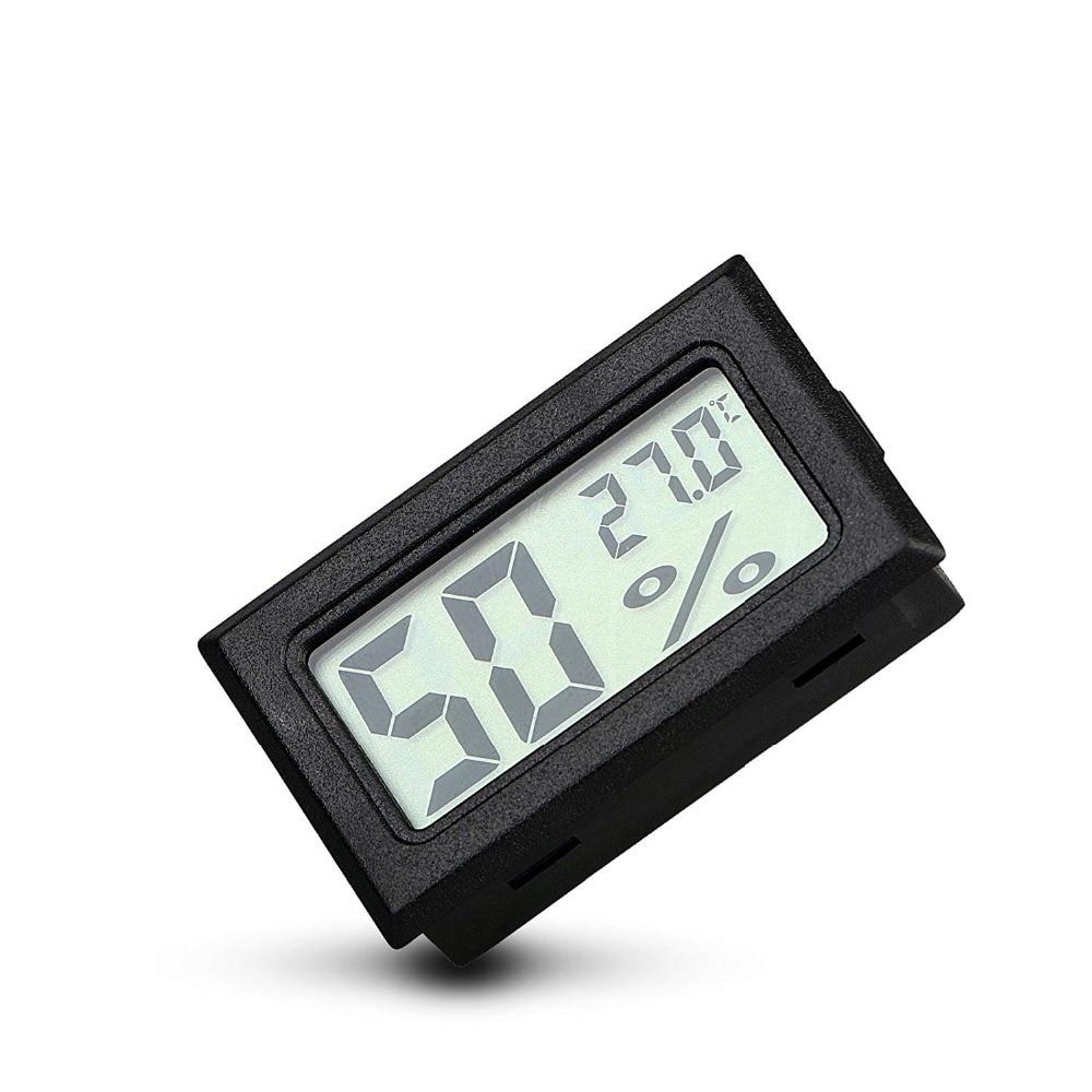 Mini Black Digital LCD Temperature Humidity Indoor Room Humidity Meter Thermometer Hygrometer Temperature Sensor Humidity Innrech Market.com