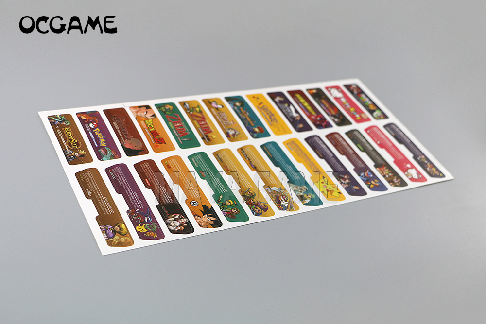 OCGAME Customer Design For Nintendo Gameboy Advance Label Sticker For GBA Console Back Tag 140pcs/lot=5sets