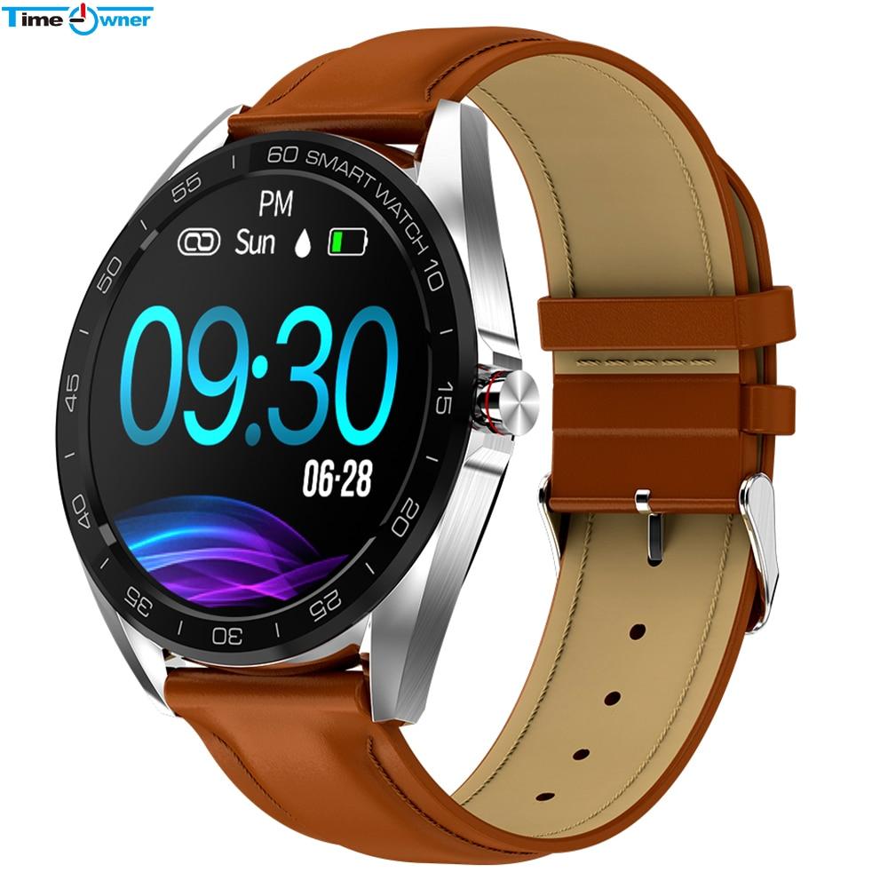 "TimeOwner K7 IP68 Waterproof Smart Watch 1.3"" Full Touch Round Screen Heart Rate Sleep Monitor Sport Smartwatch Fitness Tracker Smart Watches     - title="