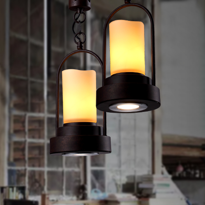 Iron pendant light restaurant Seminal Hotel bar industrial wind retro cafe creative personality pendant lamps ZA81052 the restaurant in front of the hotel cafe bar small aisle entrance hall creative pendant light mediterranean