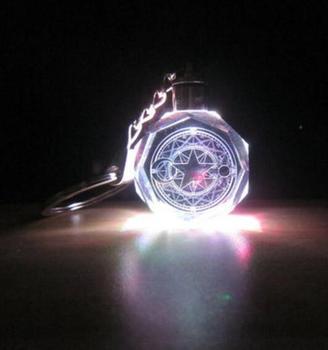 аниме Брелок светодиодный кристалл Сакура собирательница карт в ассортименте