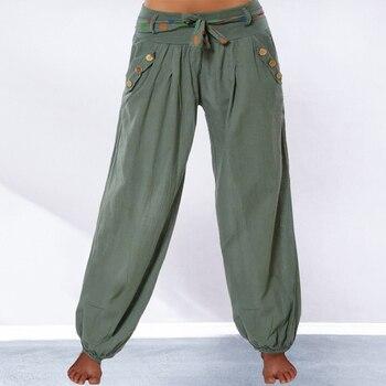76e8f5c80d Women's Fashion Plus Size Solid Color Casual Long Pant Loose Baggy Beach  Harem Pants Ladies Wide Leg Trousers - lztees