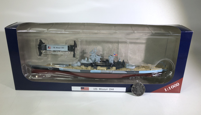 US $39 11 |AMER 1/1000 Scale Military Model Toys USS Missouri 1944  Battleship Diecast Metal Warship Model Toy For Collection,Gift,Kids-in  Diecasts &