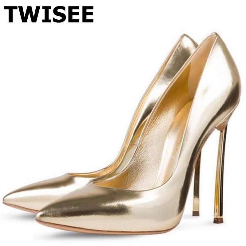 TWISEE Basic Women Pointed Toe High Heels Fashion Sexy Shoes Women Pumps Wedding Shoes pu lenther Sexy Shoes Woman Zapatos Mujer zapatos mujer designer women shoes pumps summer high heels sexy fashion wedding shoes pointed toe thin heels office shoes