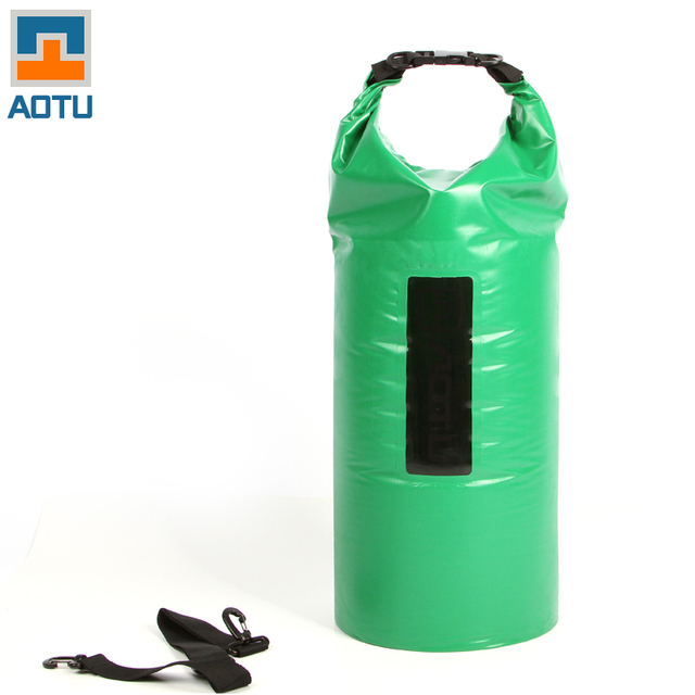 2018 AOTU New Portable 40L Waterproof Bag Storage Dry Bag for Canoe Kayak Rafting Sports Outdoor Camping Travel Kit Equipment QA