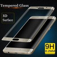 9 H 2.5D Arc 3D Gekrümmten Oberfläche Explosion Gehärtetem Glas Voll bildschirm Schutzfolie Abdeckung für samsung galaxy S6 rand plus
