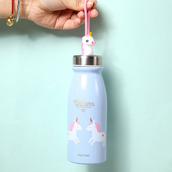Cute Rainbow Unicorn Water Bottle