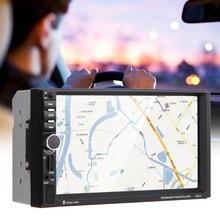 7 дюймов 2 DIN Сенсорный экран Bluetooth Вход Встроенный GPS CD автомобиля Радио плеер с Камера Географические карты 8 ГБ сзади автомобиля вид Камера ME3L