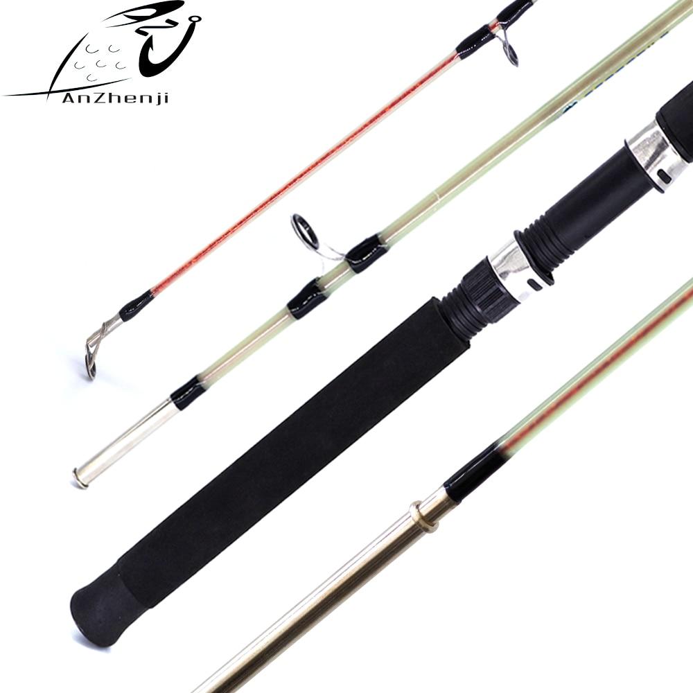 ANZHENJI 2018 Fiberglass Lure Fishing Rod Solid 1.5m 1.8m Hard Catch Big Fish