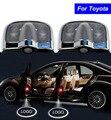 2X6 4-го поколения Двери Автомобиля Тень Лазерный Проектор Логотип LED свет для Toyota Yaris Rav4 Sienna Prado Corolla Camry Горец Vios