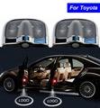 2X6 gen Porta Do Carro Logotipo Projetor Laser Sombra LED luz para Toyota Corolla Camry Highlander Yaris Rav4 Sienna Prado Vios